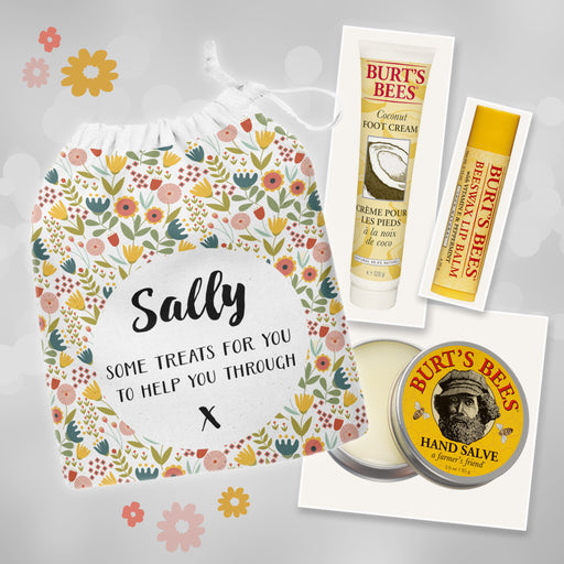 Personalised Burt's Bees Pampering Gift Set