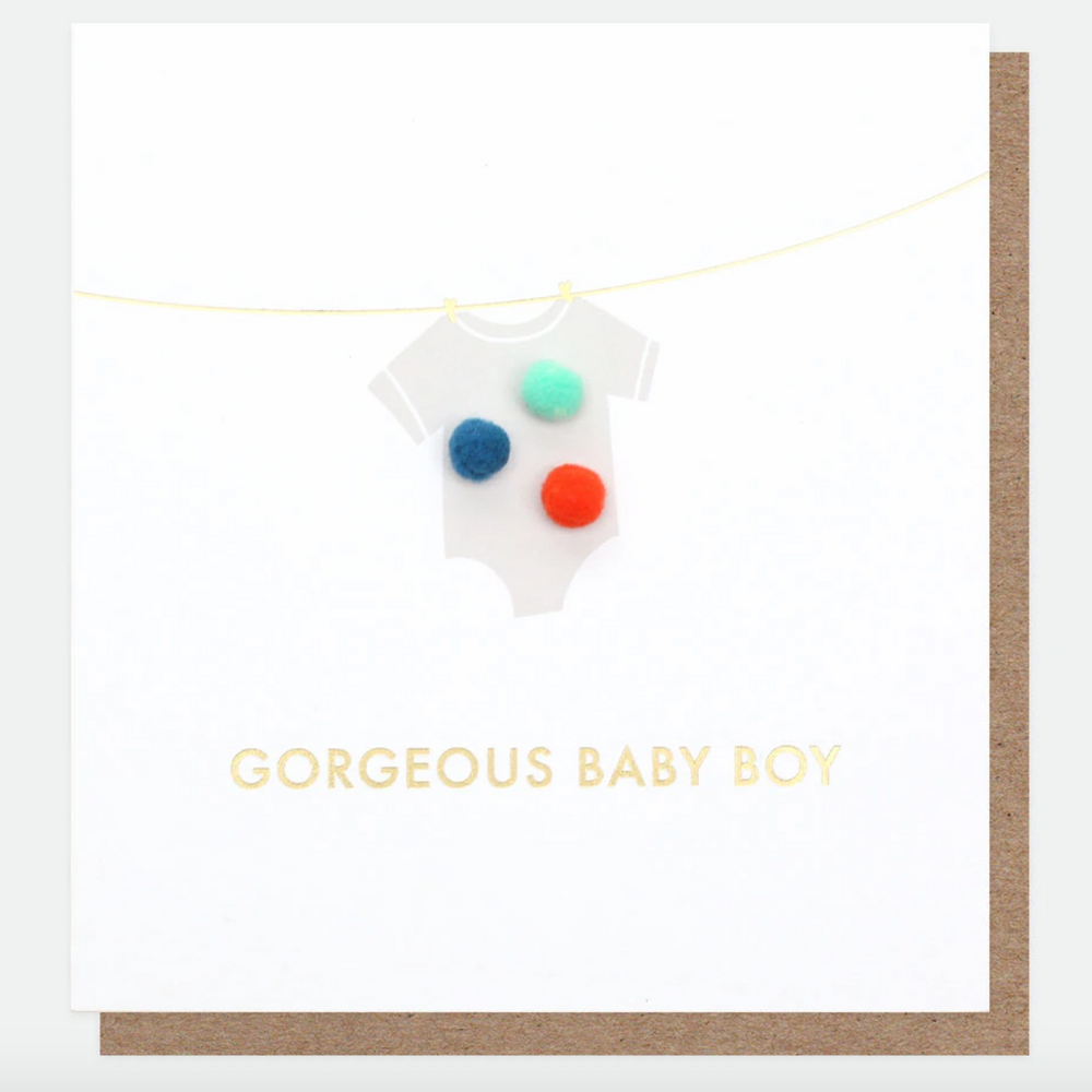 Caroline Gardner Gorgeous Baby Boy Card