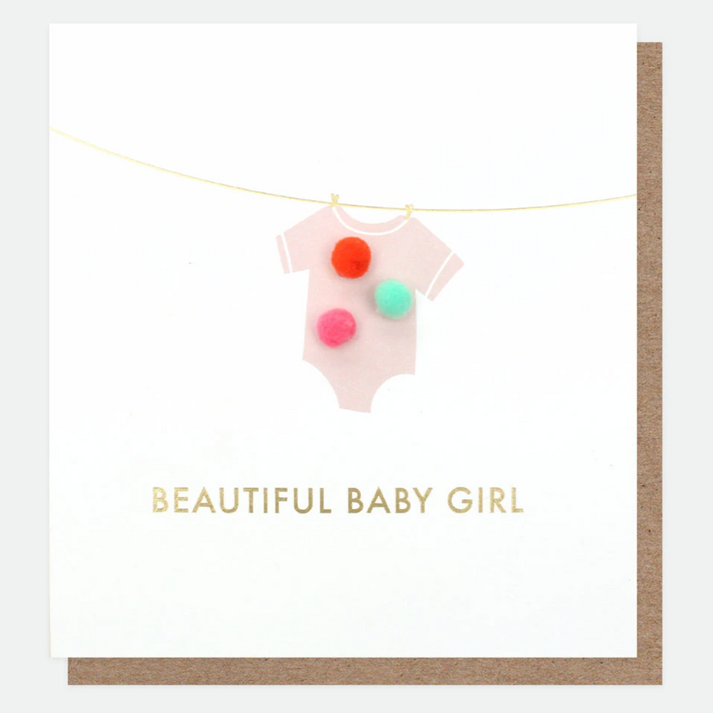 Caroline Gardner Beautiful Baby Girl Card