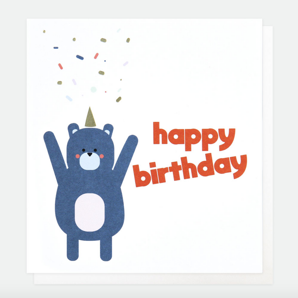 Caroline Gardner Birthday Bear Card