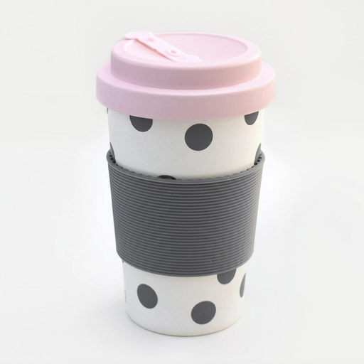 Caroline Gardner Scattered Spot Bamboo Reusable Coffee Cup