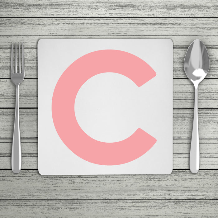 Bold Personalised Initial Placemat