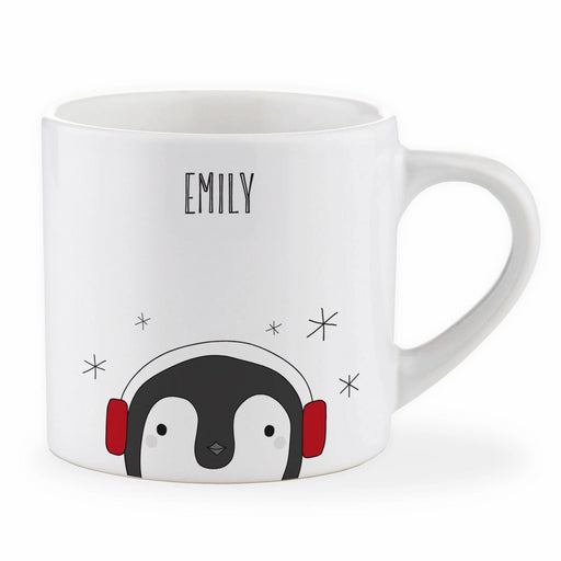 Personalised Child Christmas Penguin Mug