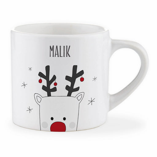 Personalised Child Christmas Rudolph Mug