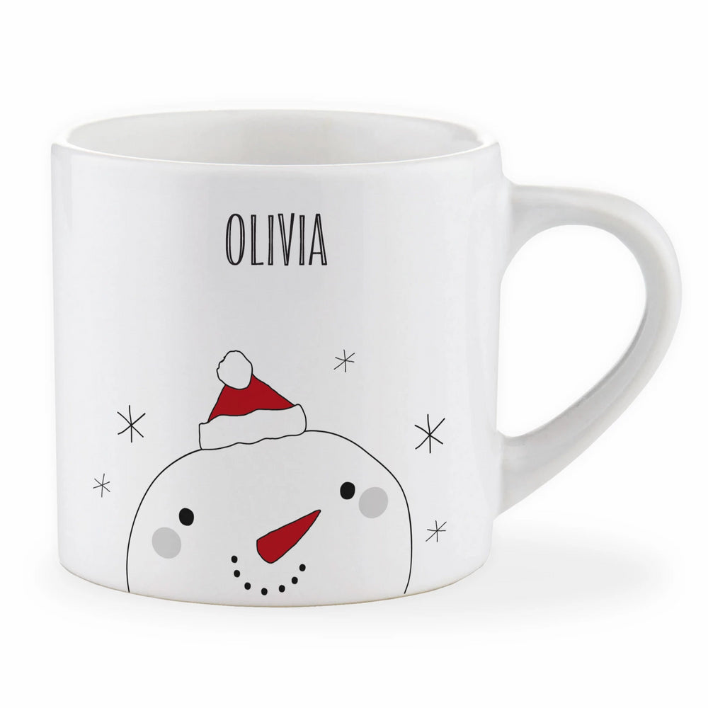Personalised Child Christmas Snowman Mug