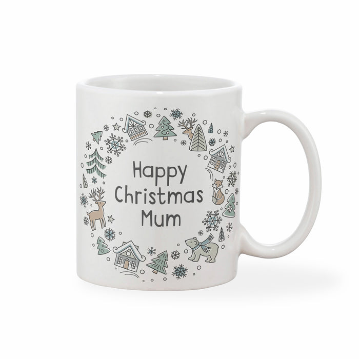 Scandi Christmas Personalised Mug