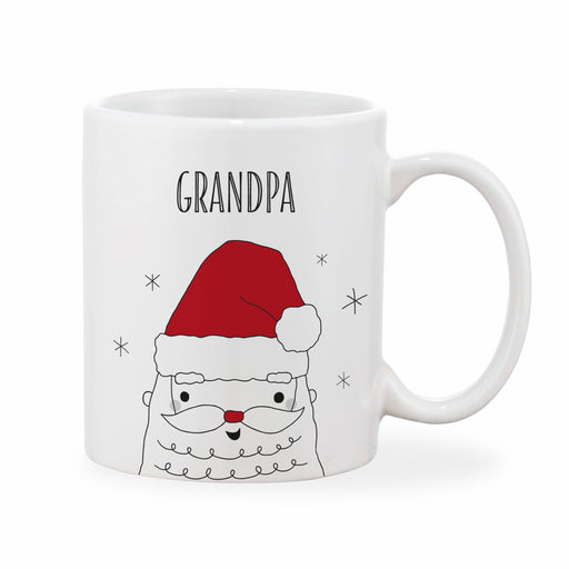 Personalised Adult Father Christmas Mug