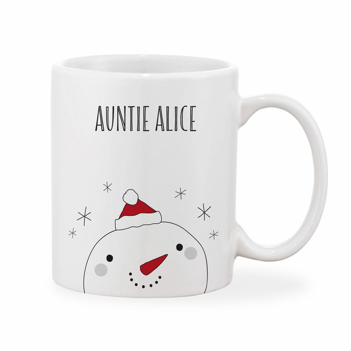 Personalised Snowman Christmas Mug