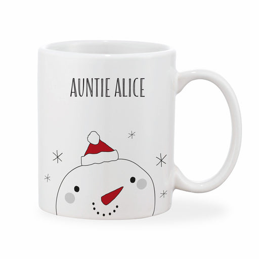 Personalised Adult Christmas Snowman Mug