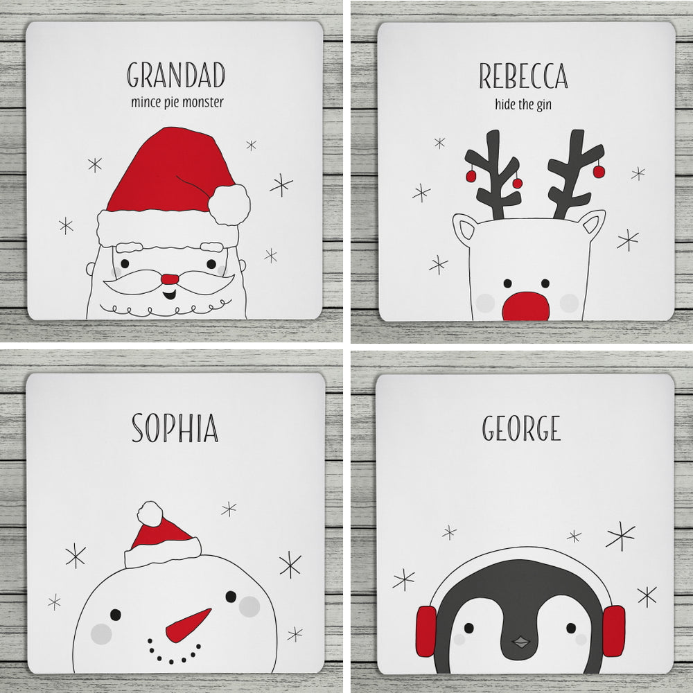 Personalised Christmas Coaster