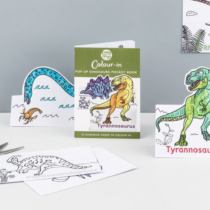 Colour-In Cards - Dinosaurs Or Fairies