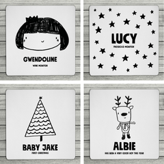 Mix And Match Personalised Christmas Coasters - Various Designs