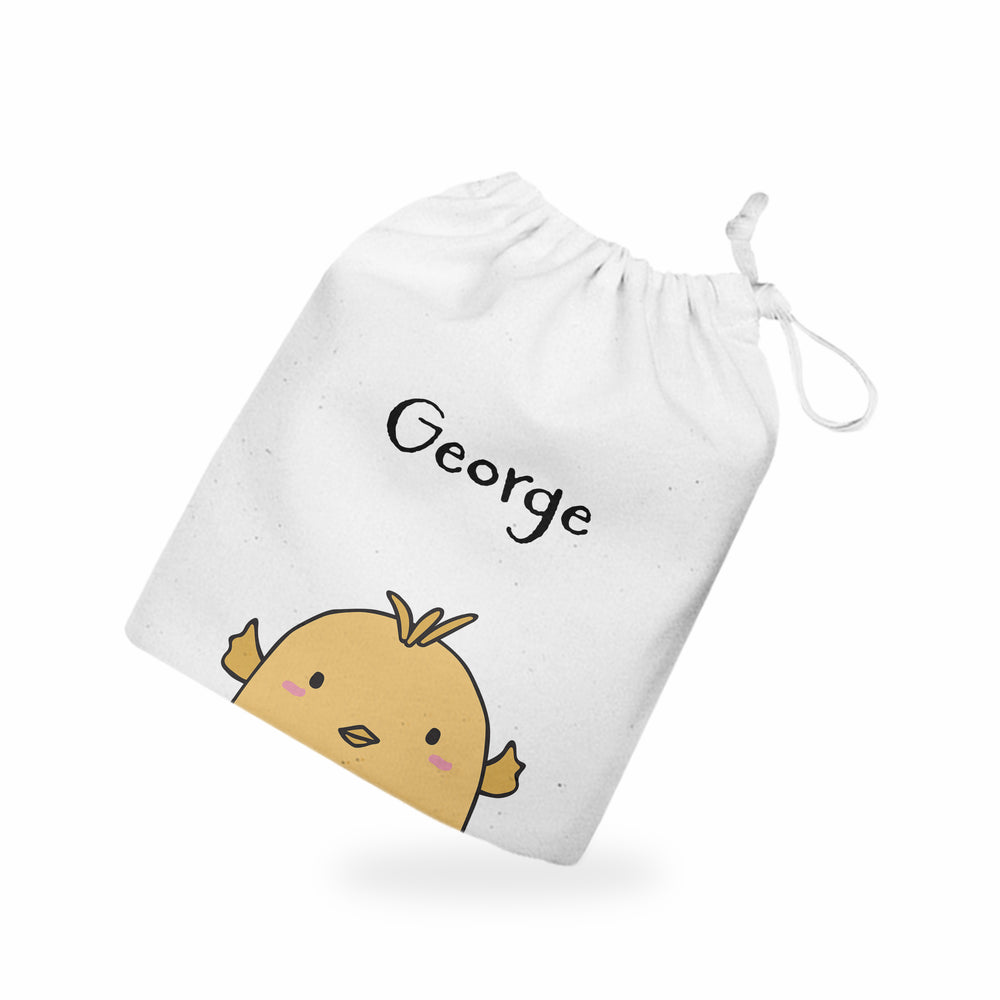 Personalised Name Easter Chick Treat Gift Bag