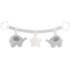 Grey Elephant And White Star Rattle Pram Toy