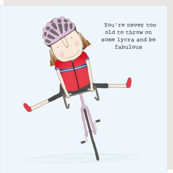 Fabulous In Lycra Birthday Card