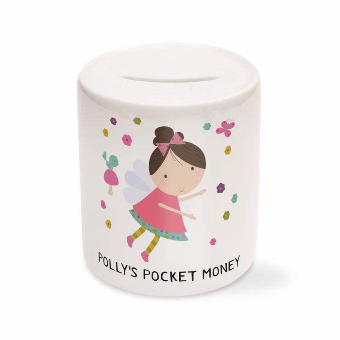 Children's Personalised Fairy Money Box