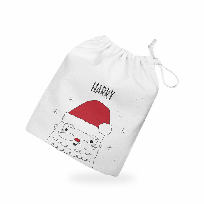Personalised Father Christmas Treat Bag Eve Box