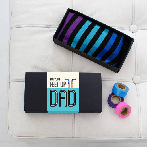 Dad's Striped Socks Gift Set
