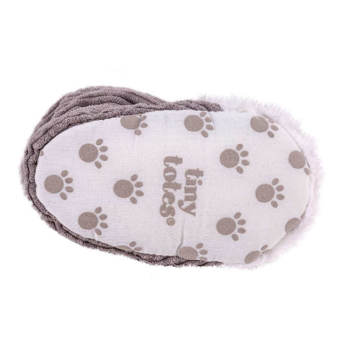 Totes Grey Fox toddler slippers