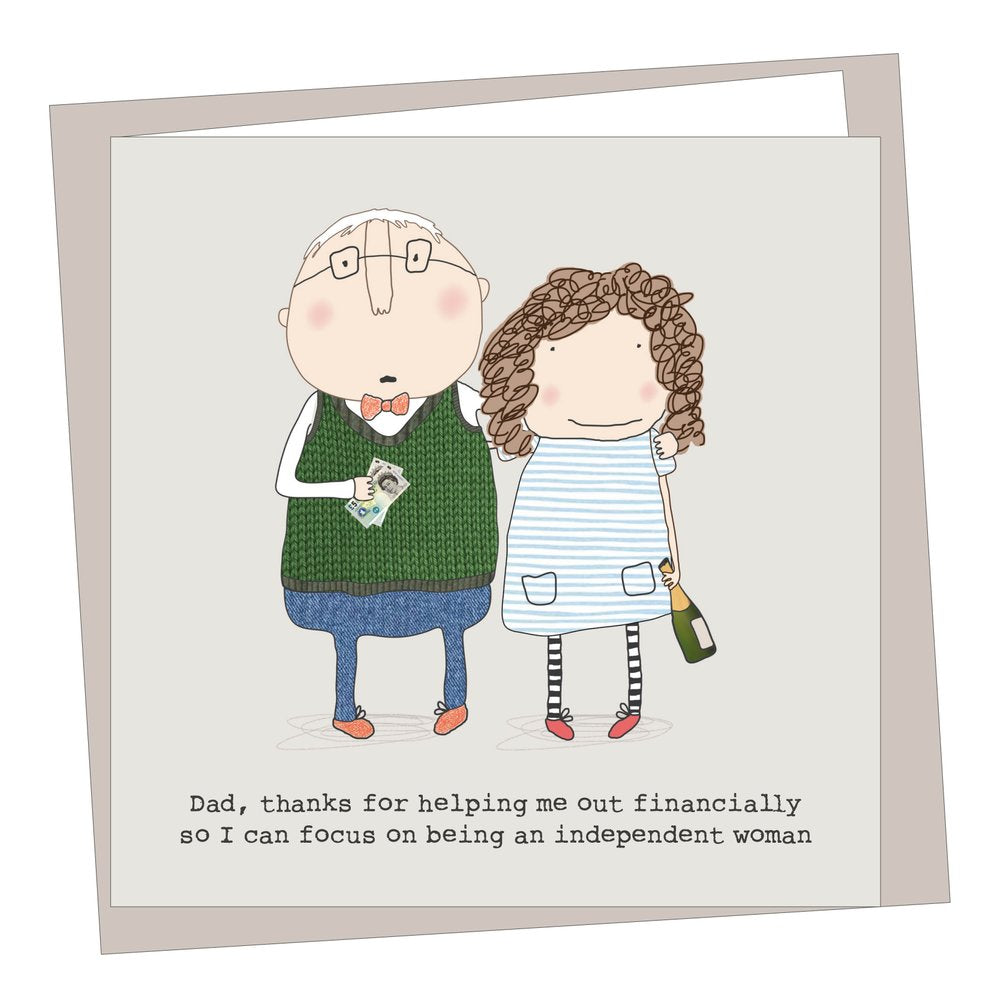 Independent Woman Father's Day Card