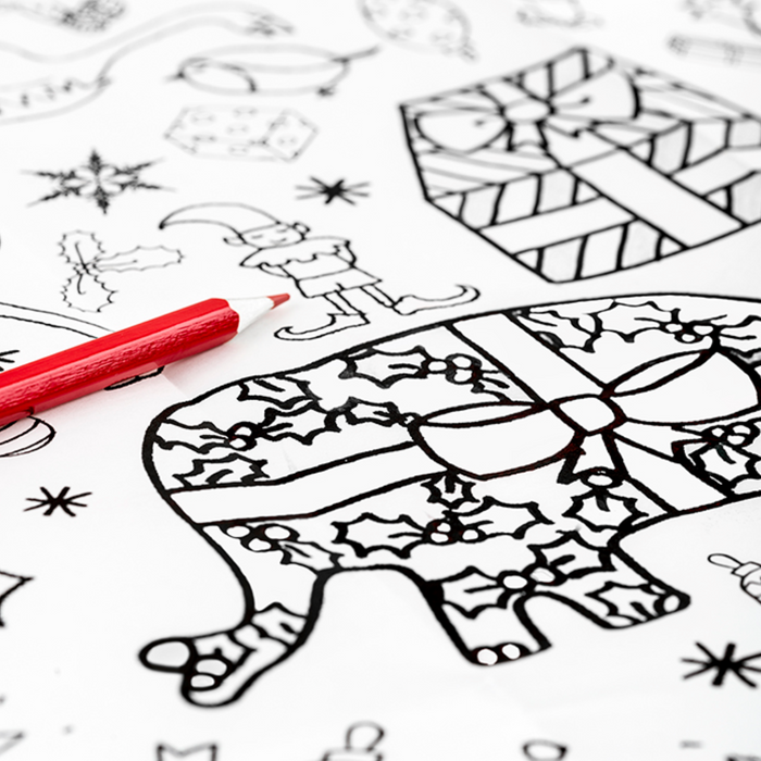 Giant Christmas Colouring Poster
