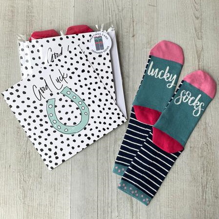 Good Luck Socks And Card Gift Set