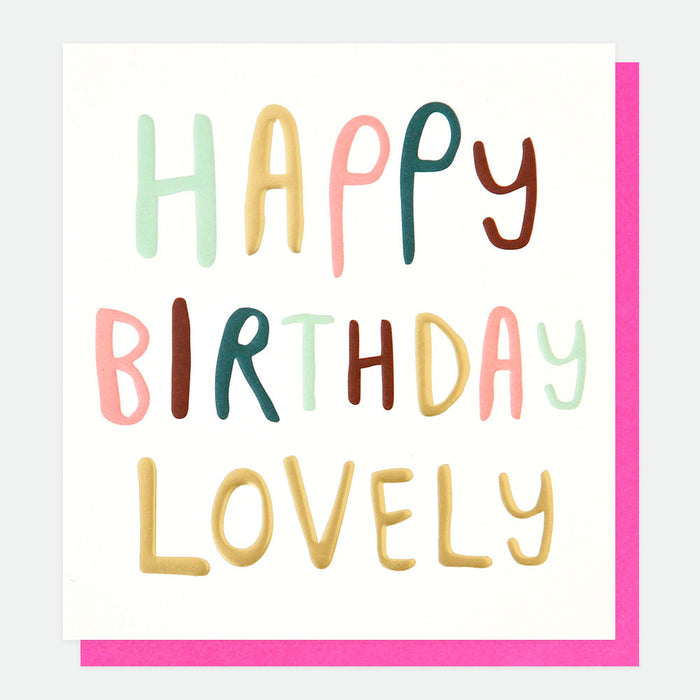 Happy Birthday Lovely Card