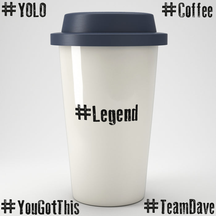 Personalised Hashtag Eco Travel Mug