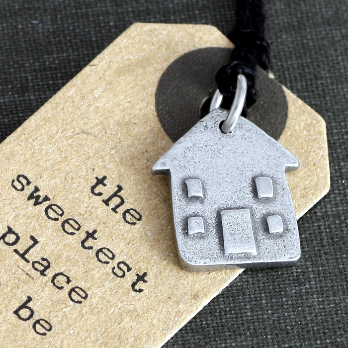 charm, home sweet home, jewellery, heartfelt gift, sweetest place, pewter charm