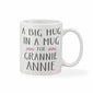 A Big Hug In A Mug Grey & Pink Personalised Mother's Day Mug