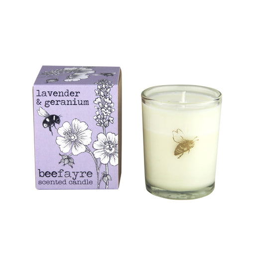 Beefayre Bee Calm Lavender & Geranium Scented Candle