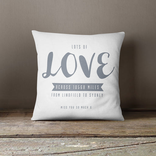 Sending Hugs and Love across the miles cushion