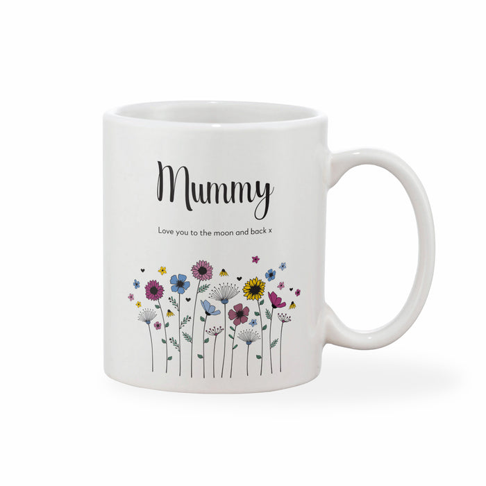 Meadowfield Ditsy Floral Mother's Day Mug With Personalised Message