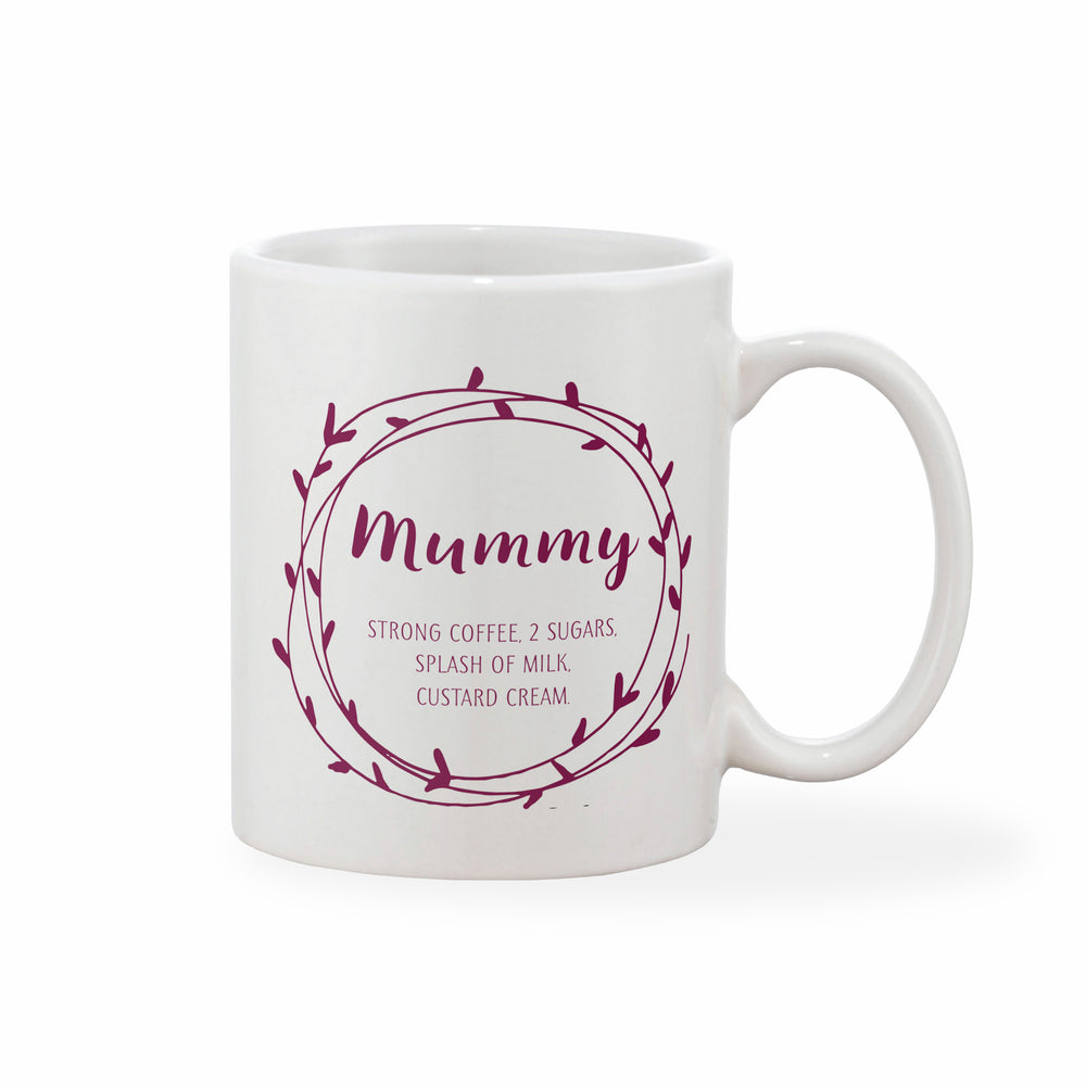 Personalised Message Heart Loop Mother's Day Mug (Various Colours)