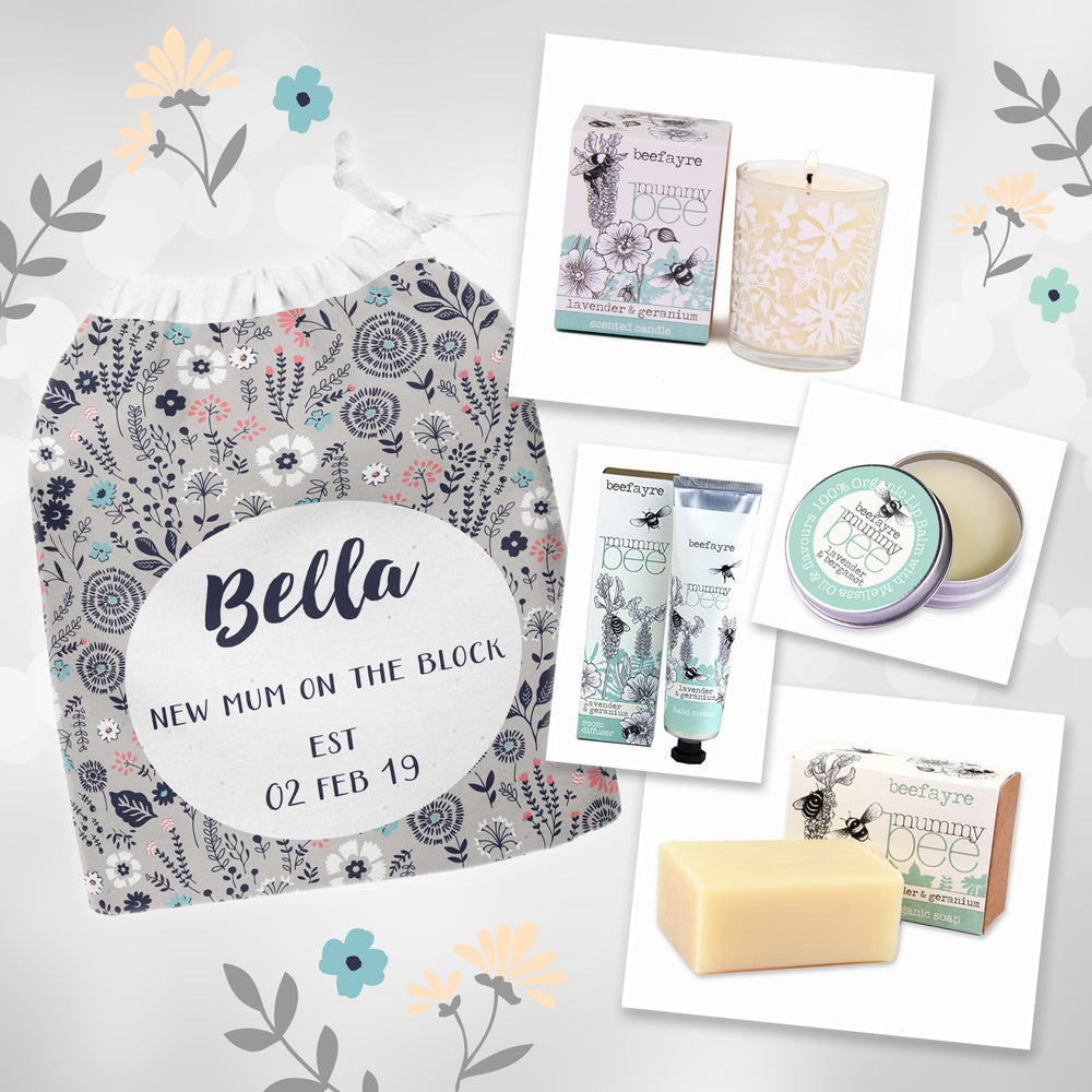 Mummy Bee Gift Set - Personalised Name And Message