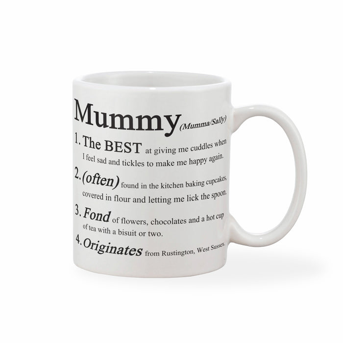 Mother's Day Personalised Definition Mug