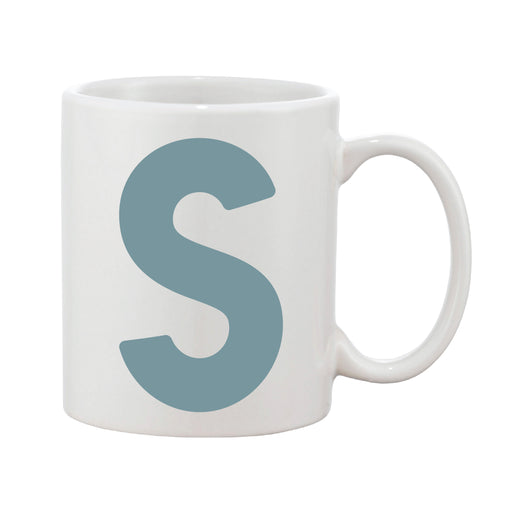 Bold Initial Mug (Personalised Message Optional - Various Colours)