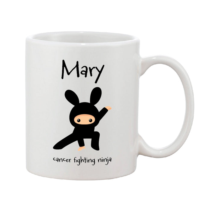 Cancer Fighting Ninja Personalised Mug