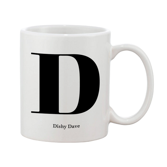 Classic Initial Mug (Personalised Message Optional)