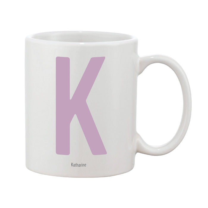 Contemporary Initial Mug (Personalised Message Optional)