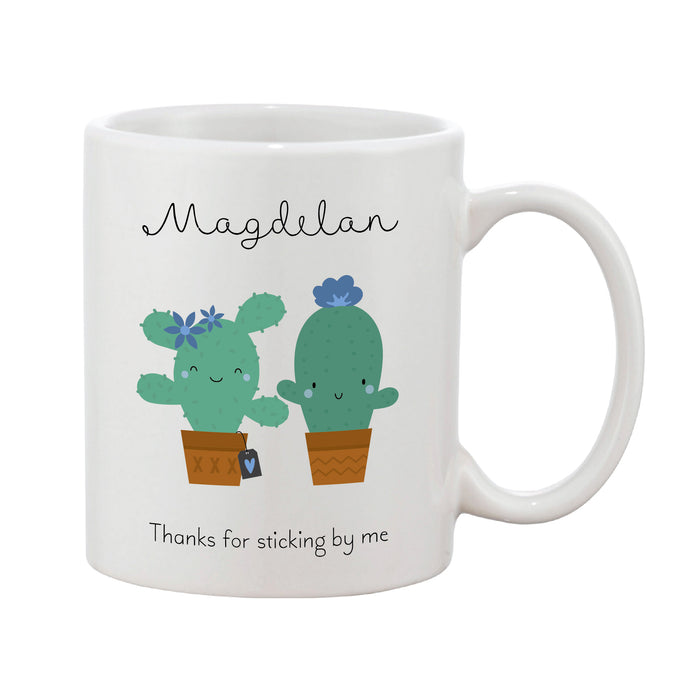 Cactus Personalised Name & Message Mother's Day Mug