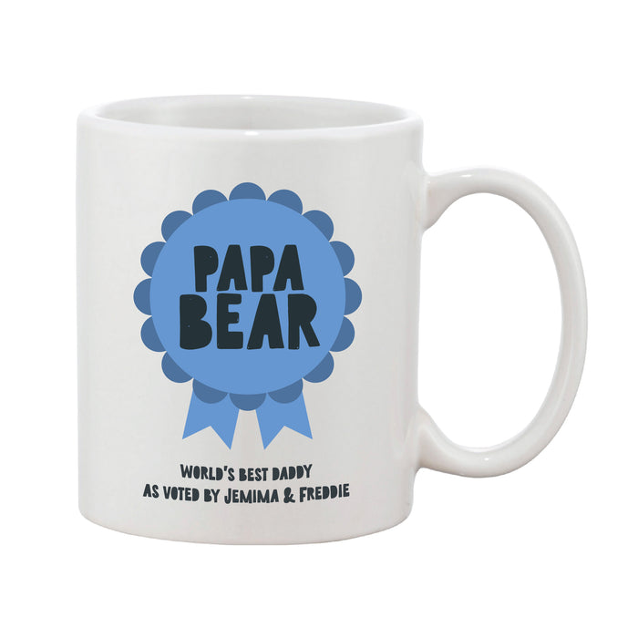 Rosette Personalised Award Mug - Pink, Blue Or Grey
