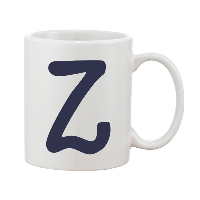 Funky Initial Mug (Personalised Message Optional - Various Colours)