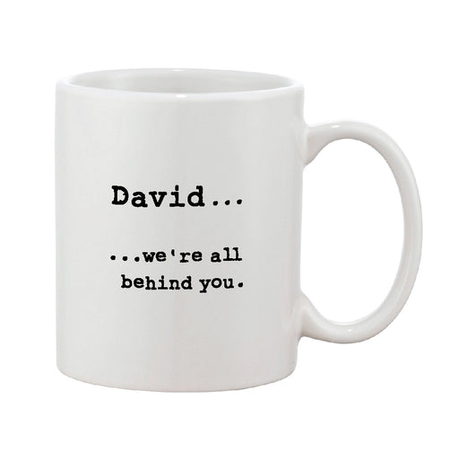 Black & White Personalised Typed Message Mug