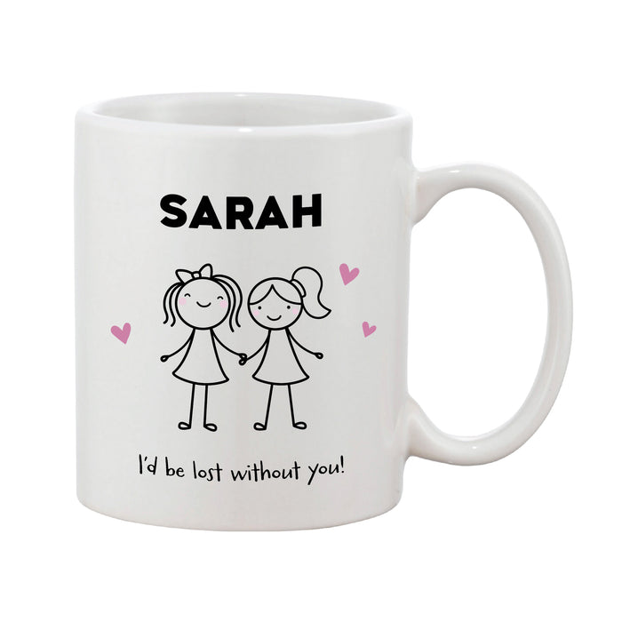 Personalised Mother's Day Mug - Mother & Child (Boy Or Girl, Pink Or Blue)