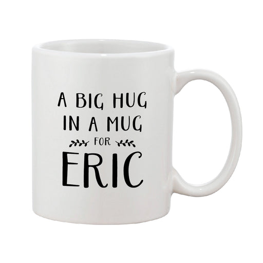 Big Hug In A Mug Black & White Personalised Mug