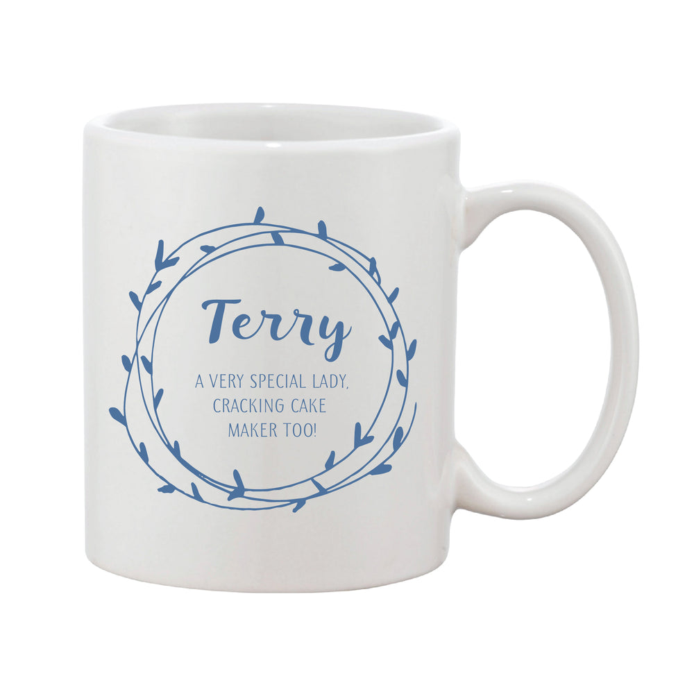 Heart Loop Mug With Personalised Message (Various Colours)