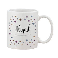 Ditsy Floral Mug With Personalised Message (Various Colours)