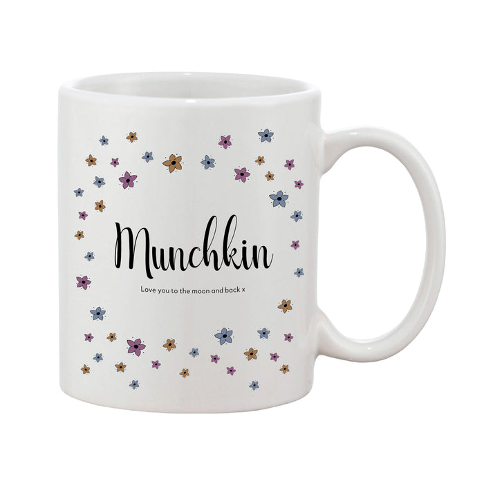 Ditsy Floral Mother's Day Mug With Personalised Message (Various Colours)