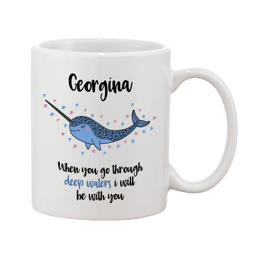 Personalised Narwhal Mug